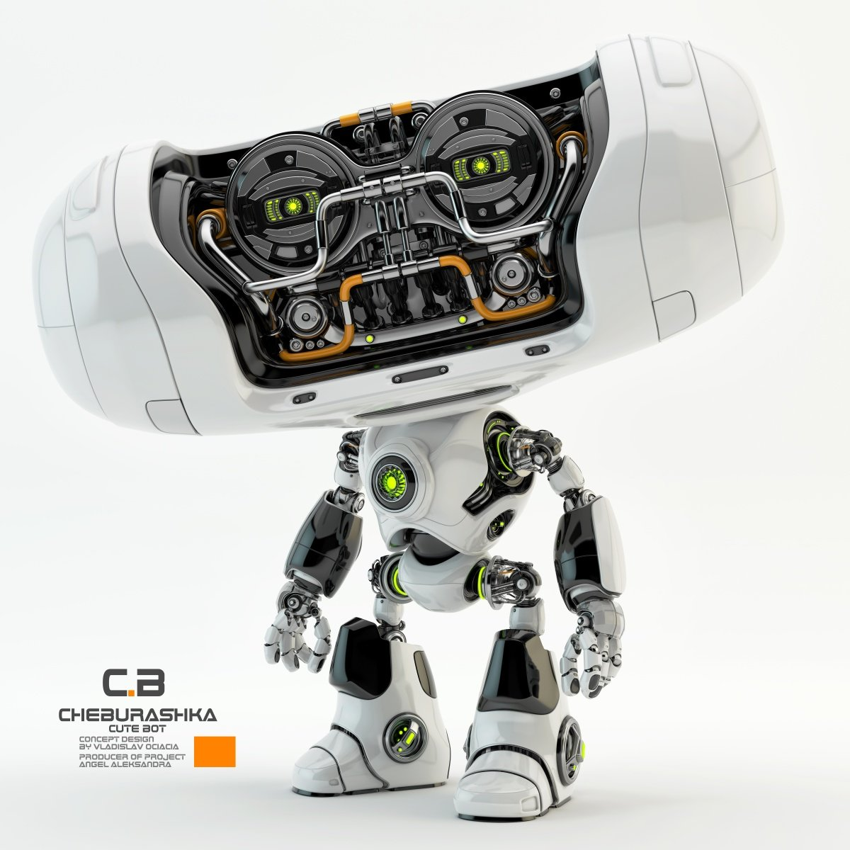 Vladislav ociacia cheburashka robot 4