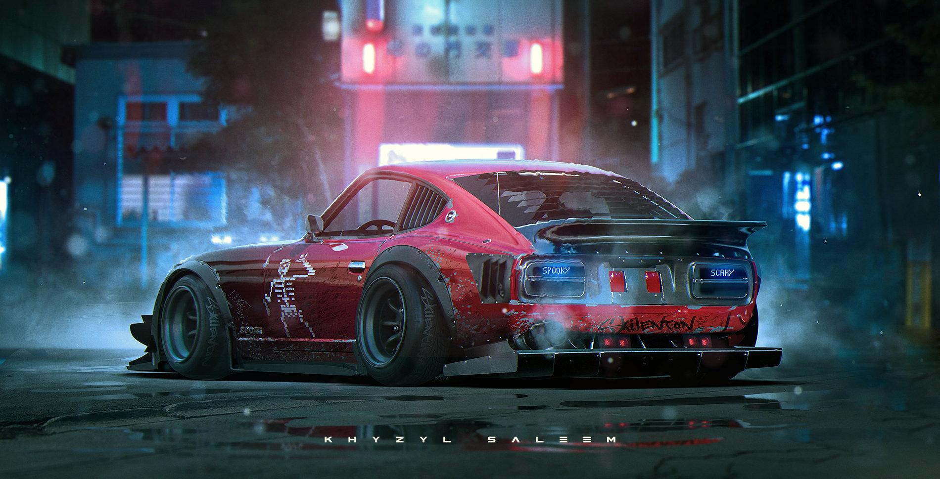 Nissan Fairlady Z >> ArtStation - Simple Z, Khyzyl Saleem