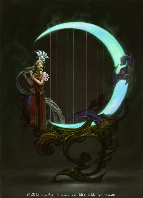 Hai hoang harp post