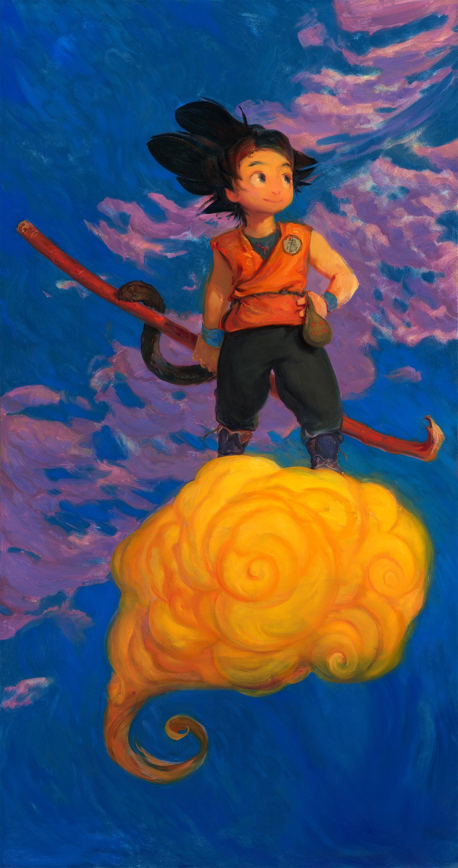 Wonderboy Son Goku - 4ft OIL PAINTING