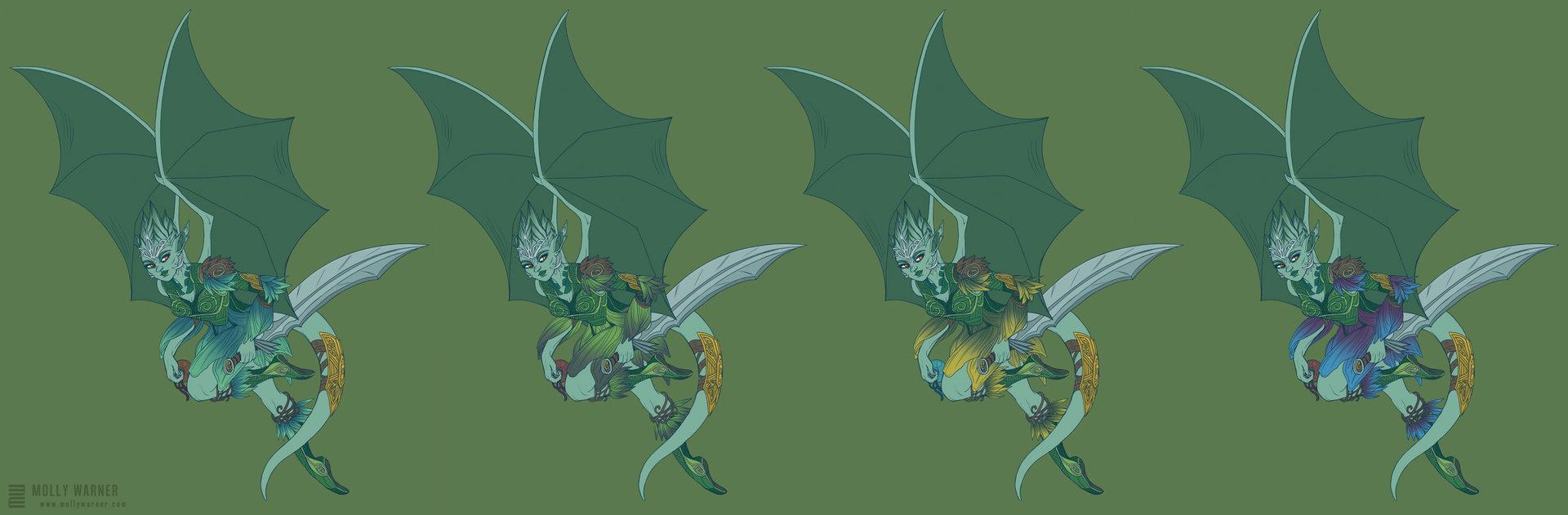 Molly warner caedrin half dragon comparisons