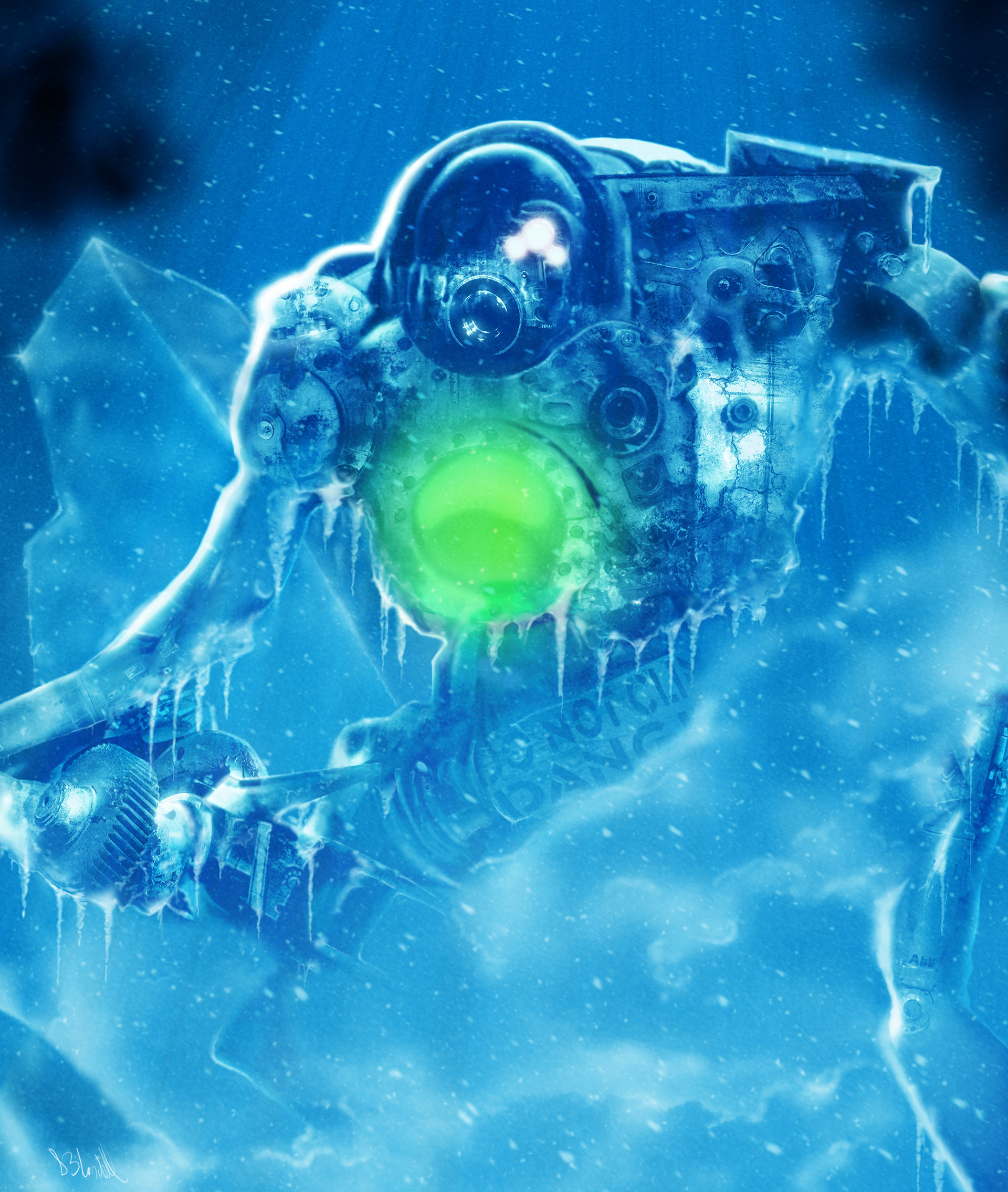 artstation ice robot stephen blundell
