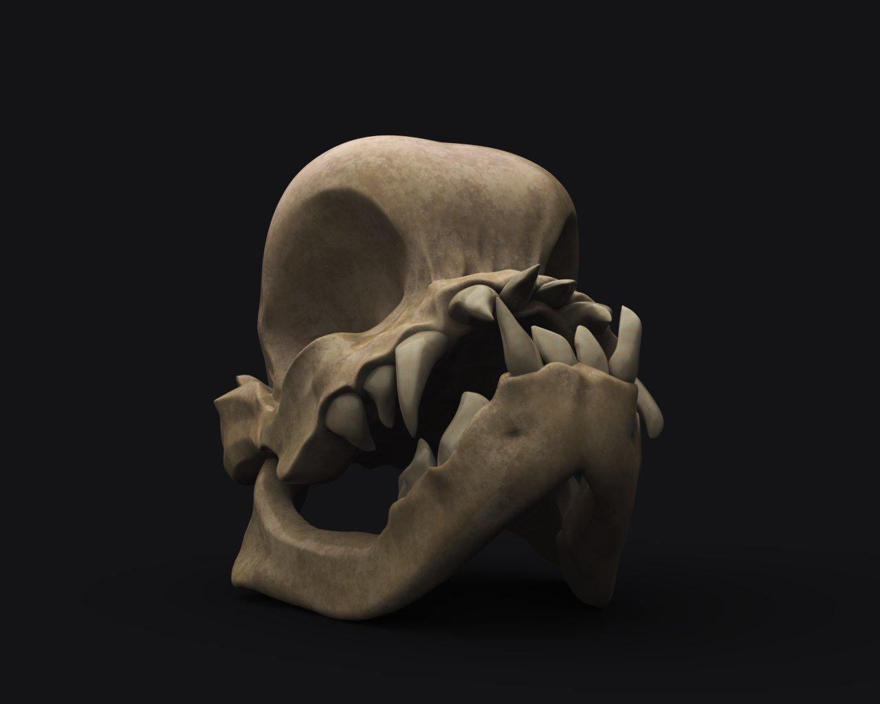 ArtStation - Pug Skull, Ida Hove-Kreutzfeldt