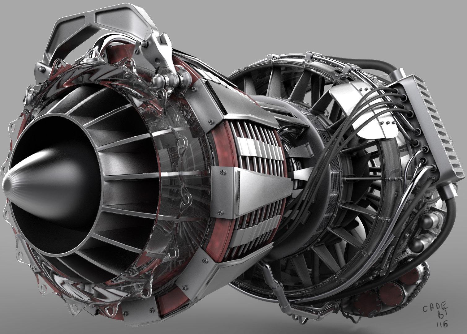 ArtStation - Turbo Fan Jet Engine, Cade Jacobs