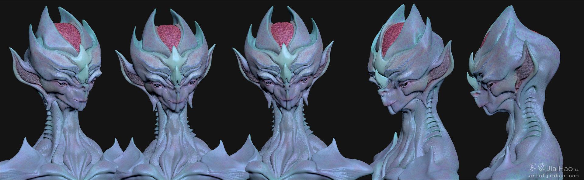 Jia hao 2014 10 alien bust 01 viewpaint