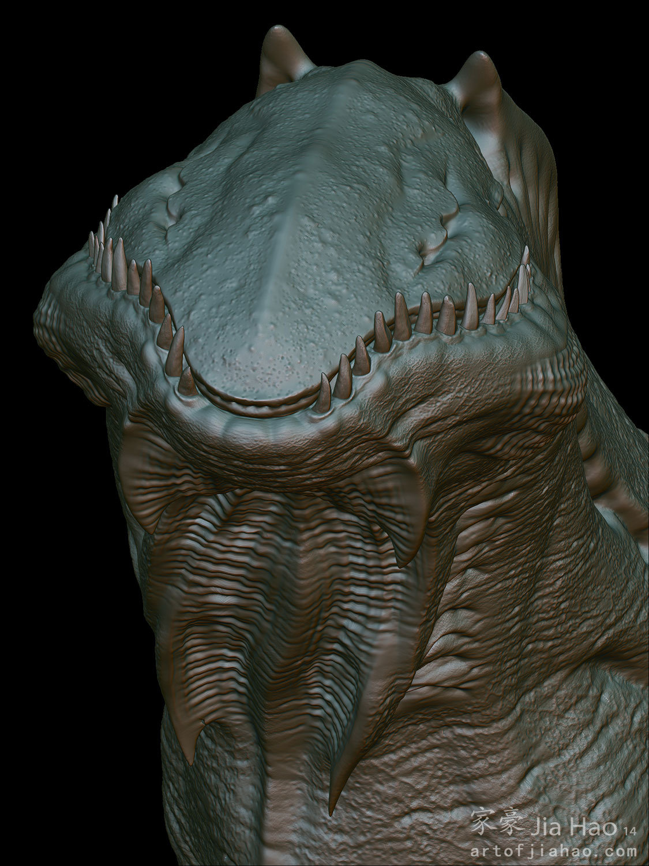 Jia hao 2014 04 creature bust 01 sculpt