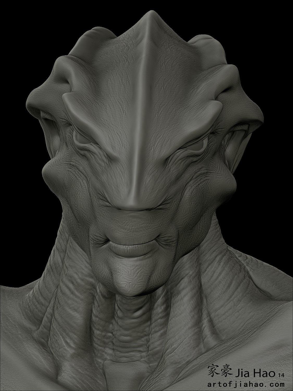 Jia hao 2014 01 alien bust 2 still sculpt
