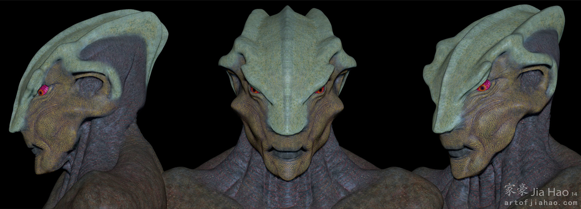 Jia hao 2014 01 alien bust 2 views beauty