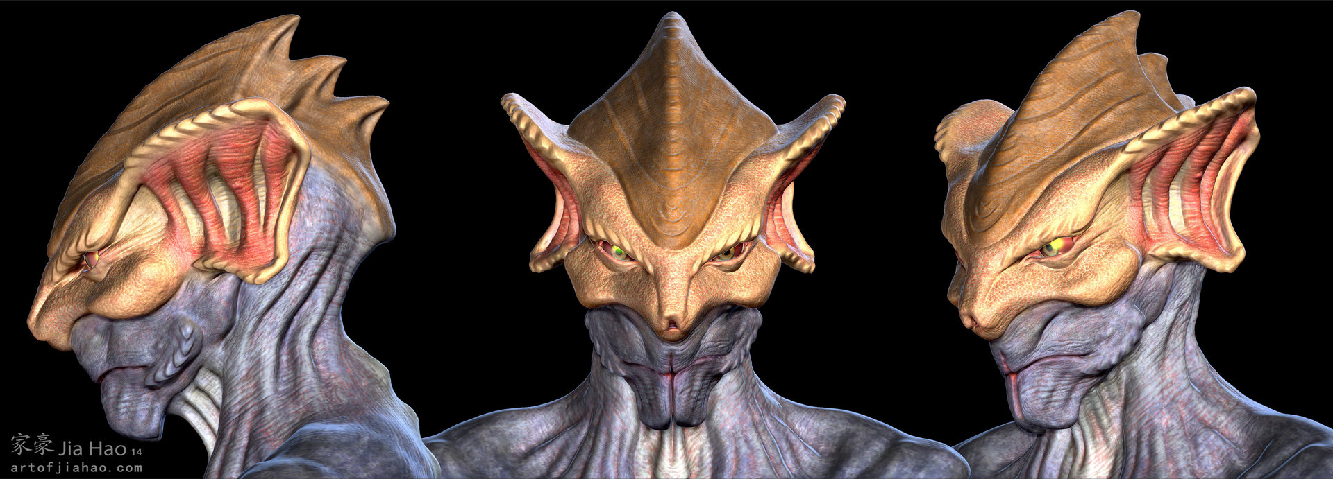 Jia hao 2014 01 alien bust 1 views beauty