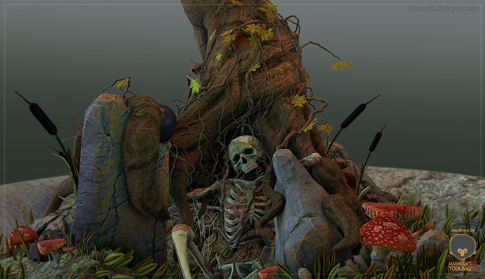 Tree Scene - Marmoset
