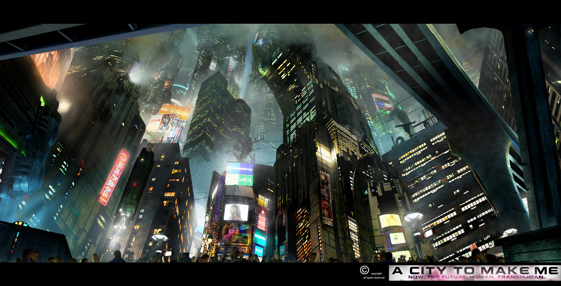 Matte Painting for the Movie A City to Make Me