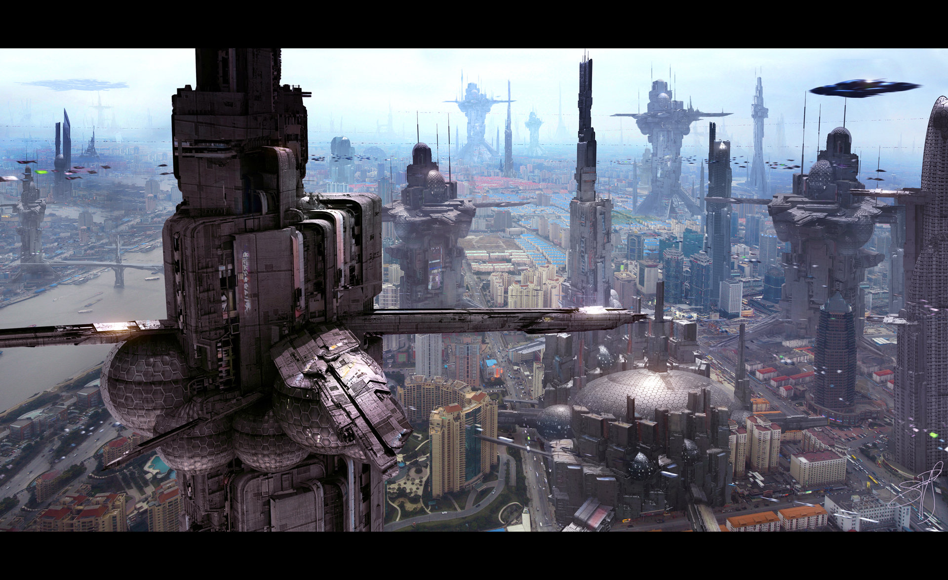 Scott richard futuristic city 6 by scott richard by rich35211 d6ver5g