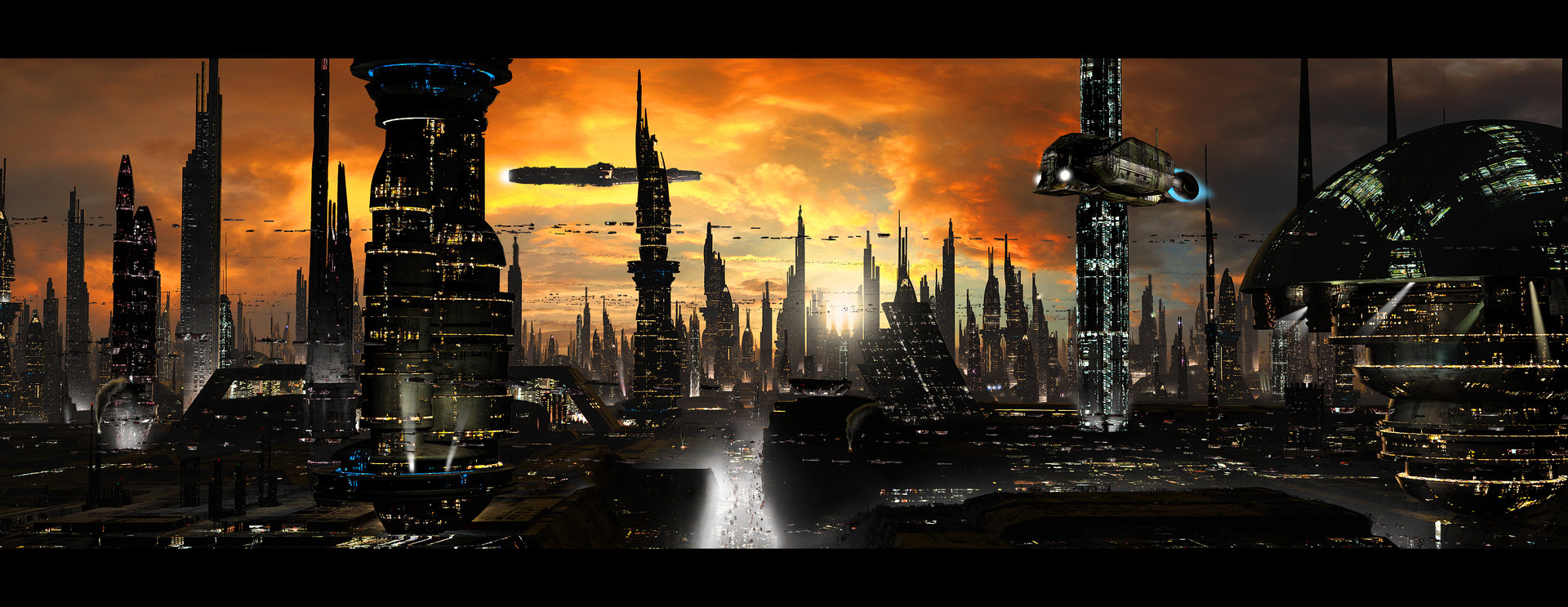 Scott richard futuristic city by rich35211