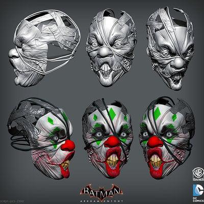 Jocelyn jocz zeller jokerthug mask01 zbrush