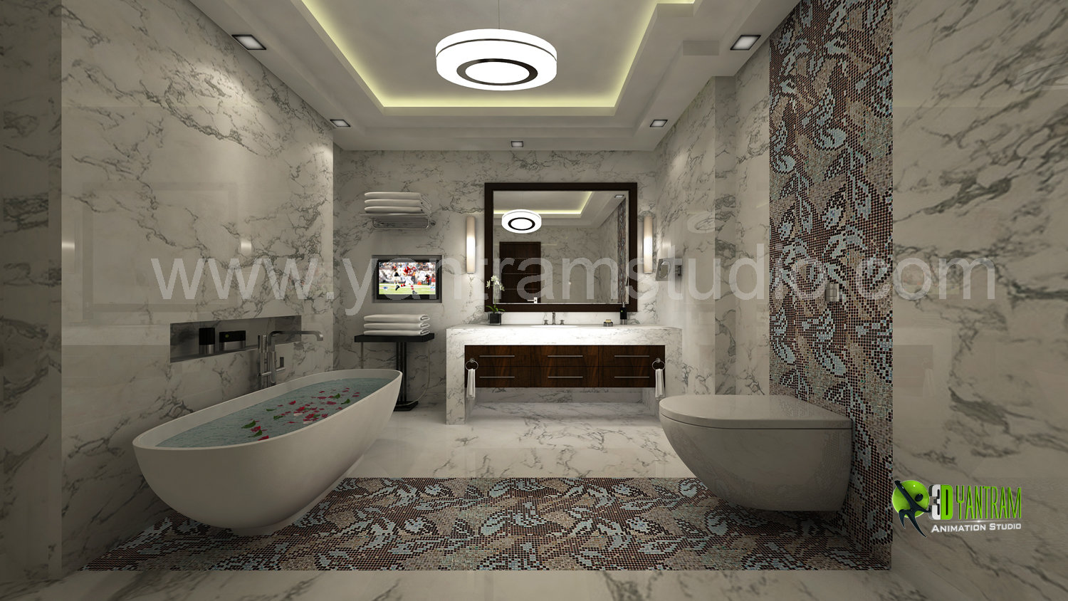 artstation - modern 3d bathroom interior design rendering - brazil