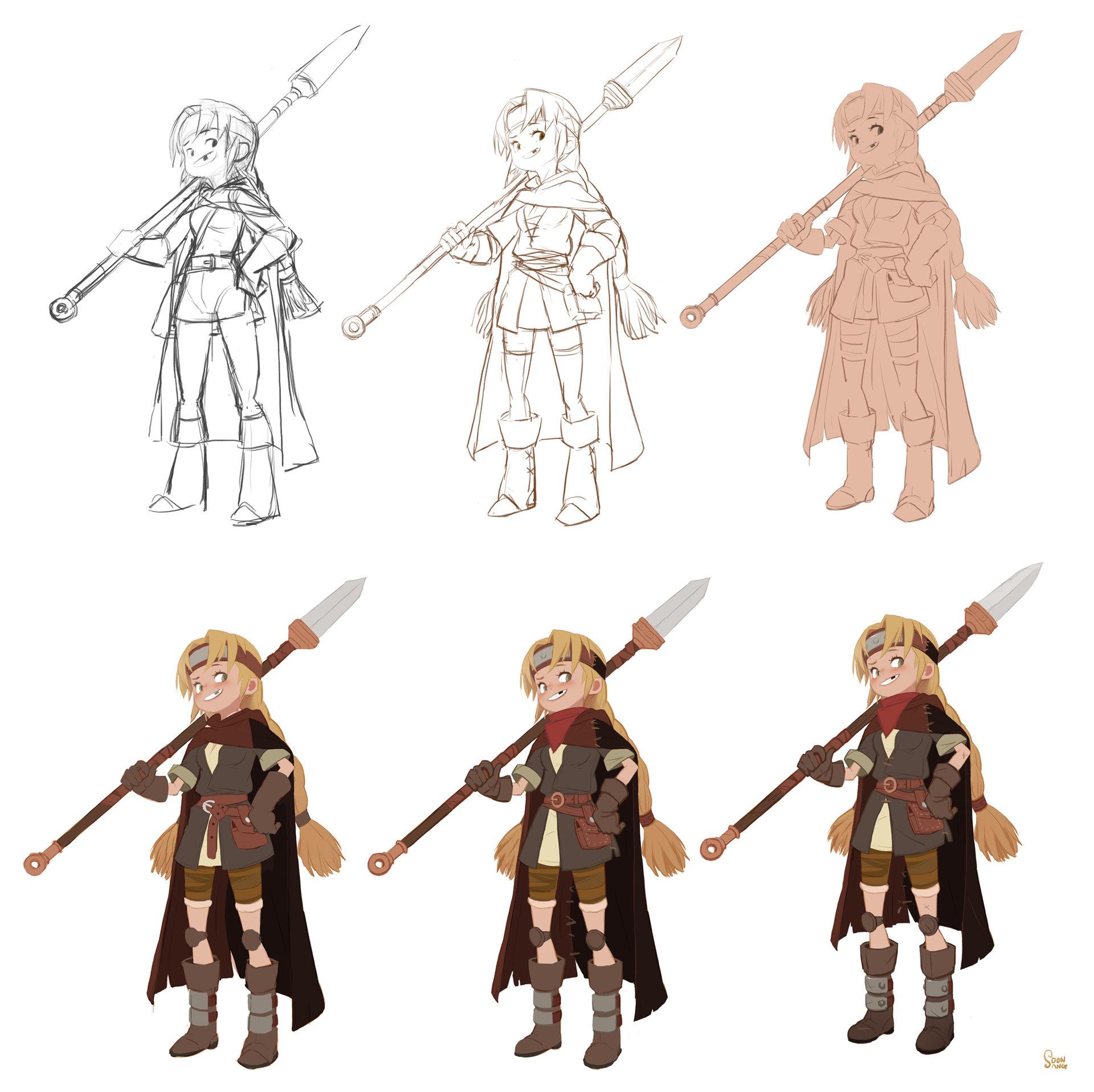 Character Development Design Process : Artstation soonsang works quot process hong