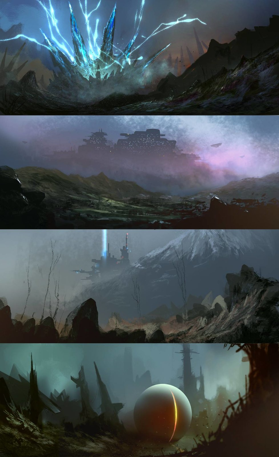 Sci-Fi Environments Seketches