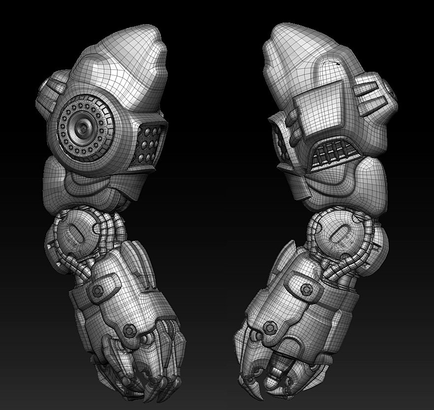 Hard surface base model.