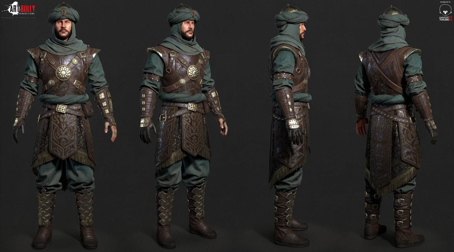 Mashru mishu persian warrior lowpoly01