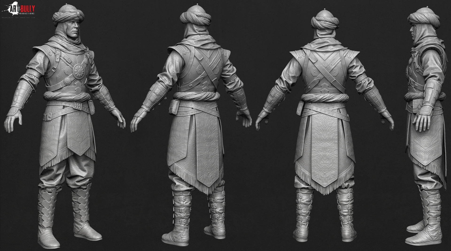 Mashru mishu persian warrior highpoly03