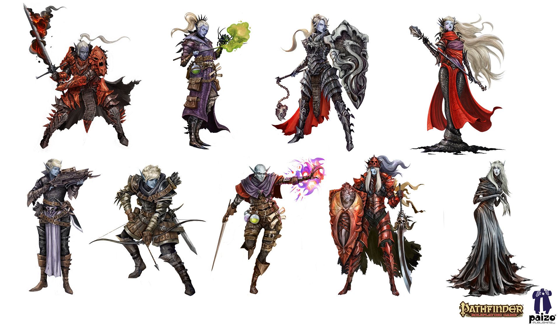 Alexandre chaudret lineup characters drow folio01jpg