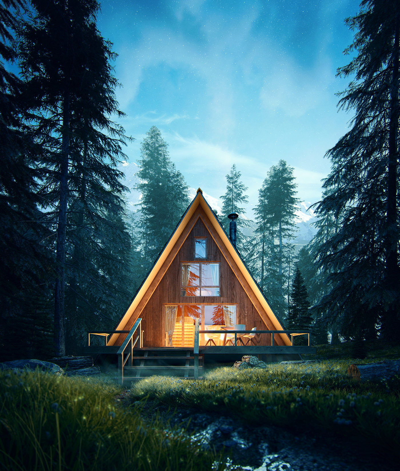 Romuald chaigneau forest house nuit vue2 redim
