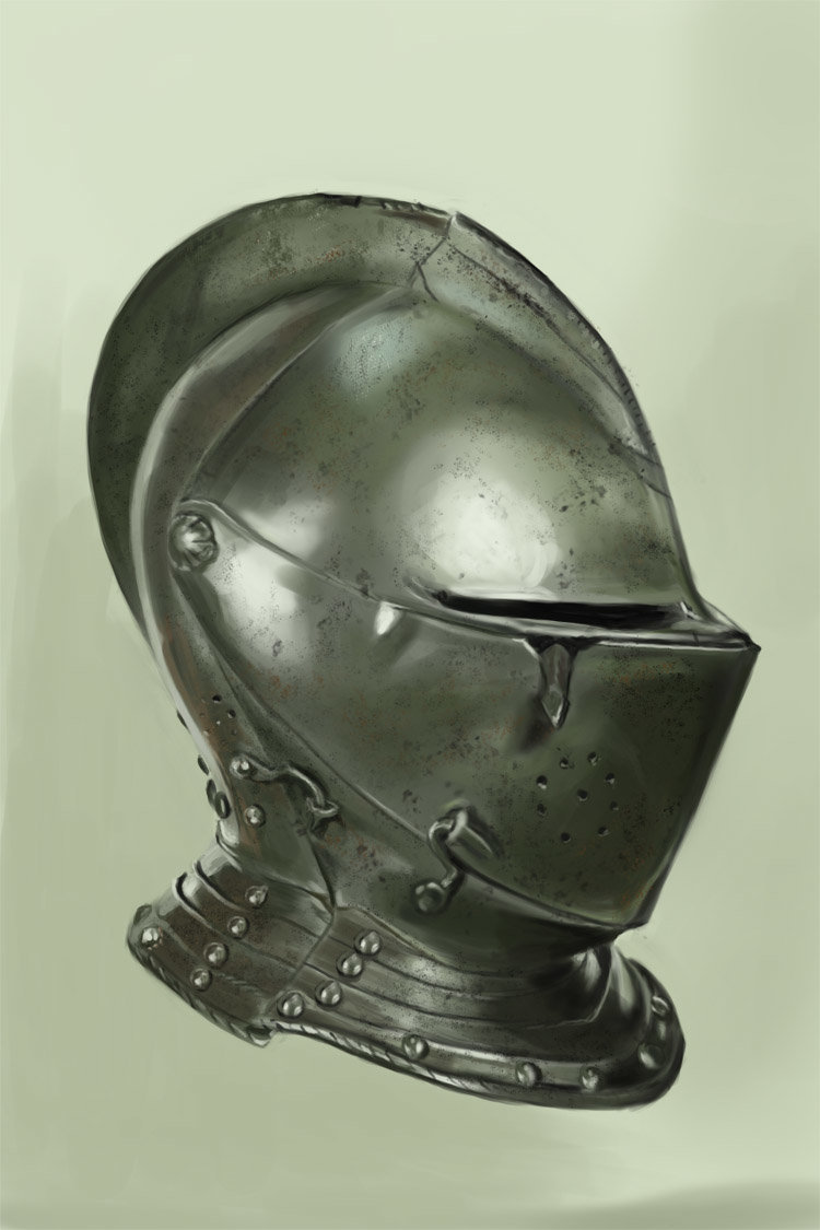 Coby ricketts armour helmet study