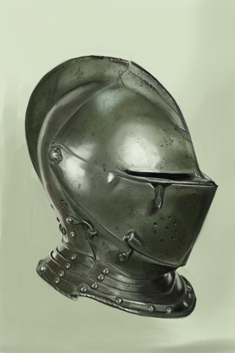 Coby ricketts armour helmet study