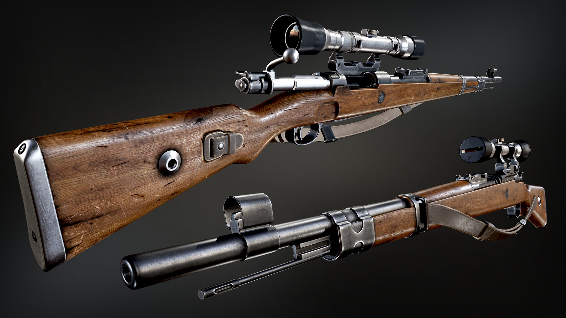 Kar98 Pubg Hd Wallpaper: WW2 Kar 98 Mauser Sniper Rifle With Bayonet