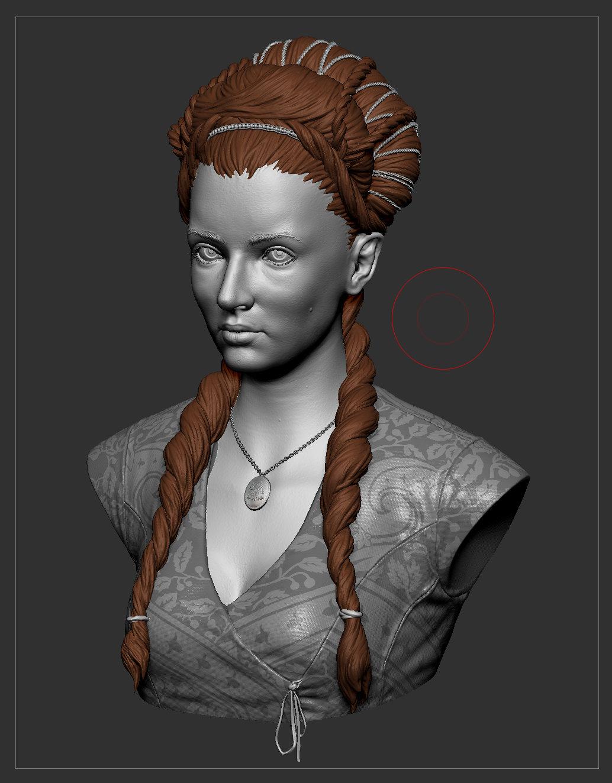 Game of Thrones Fanart - Sansa Bust Sculpt