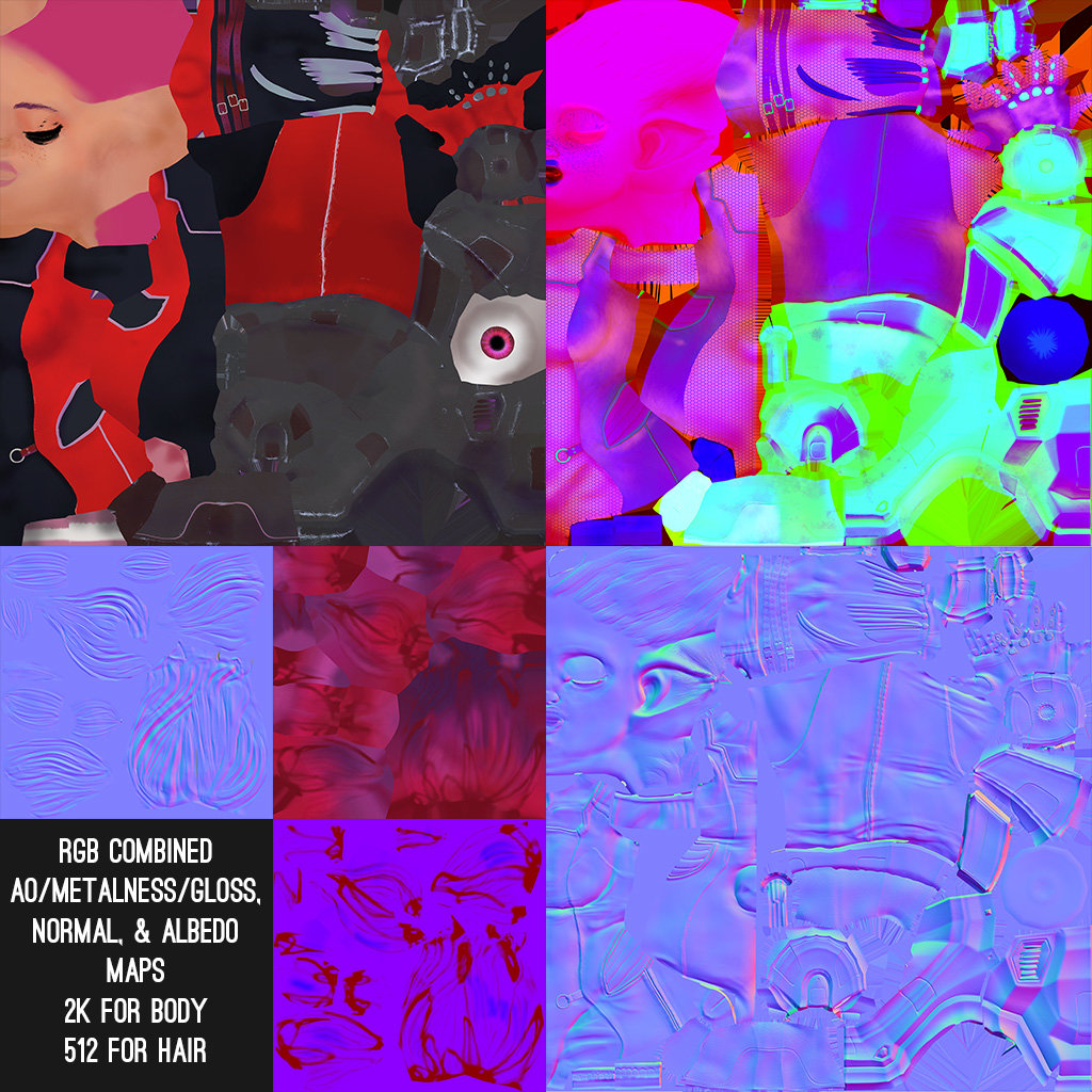 Texture maps used