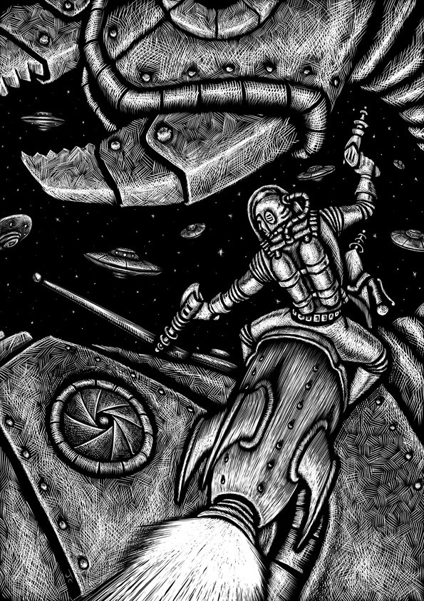 John ciarfuglia spaceman bw art