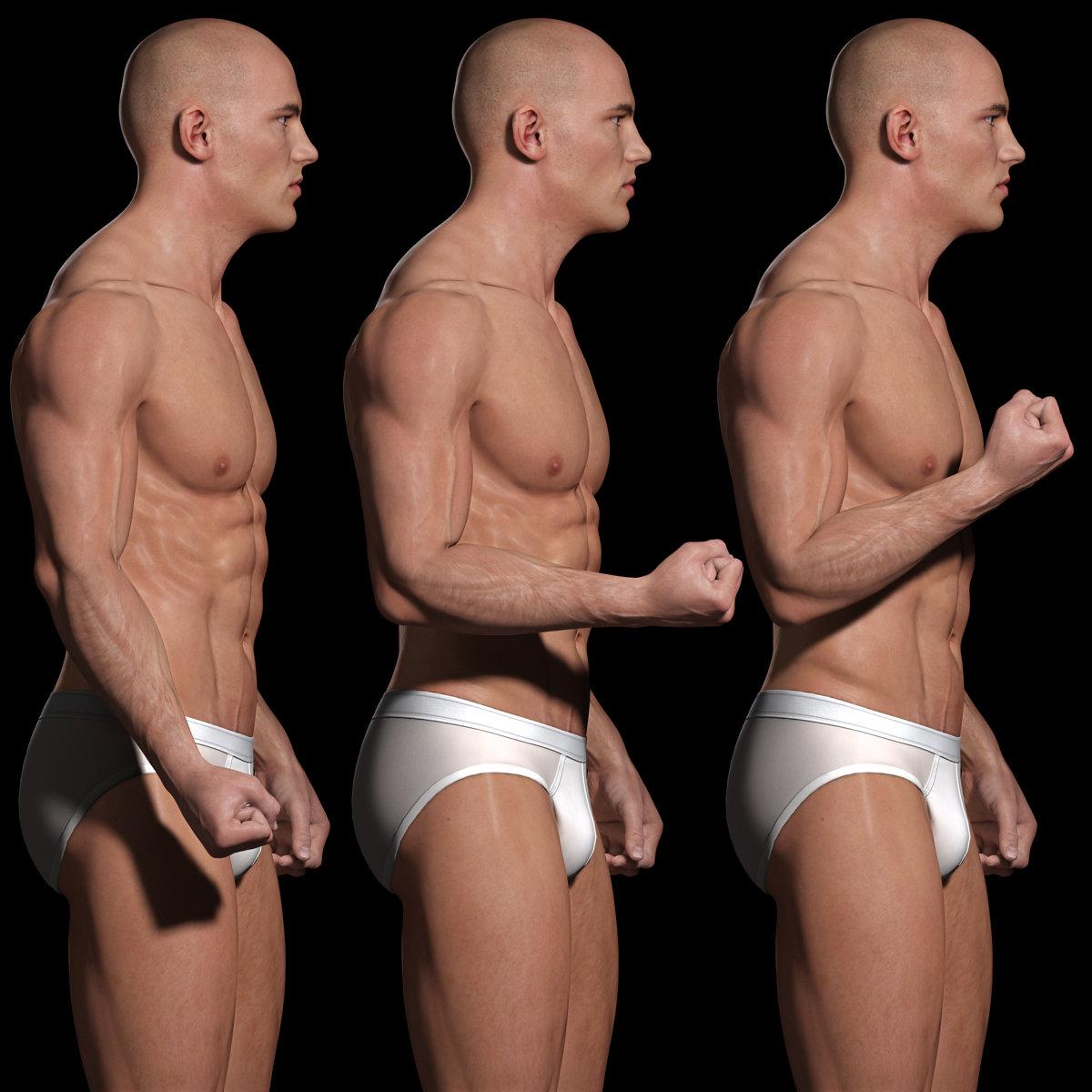 Artstation Male Body Anatomy Study Andor Kollar
