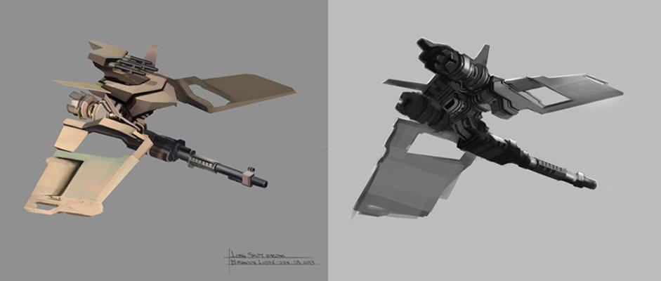 Brandon luyen conceptart drone sniper