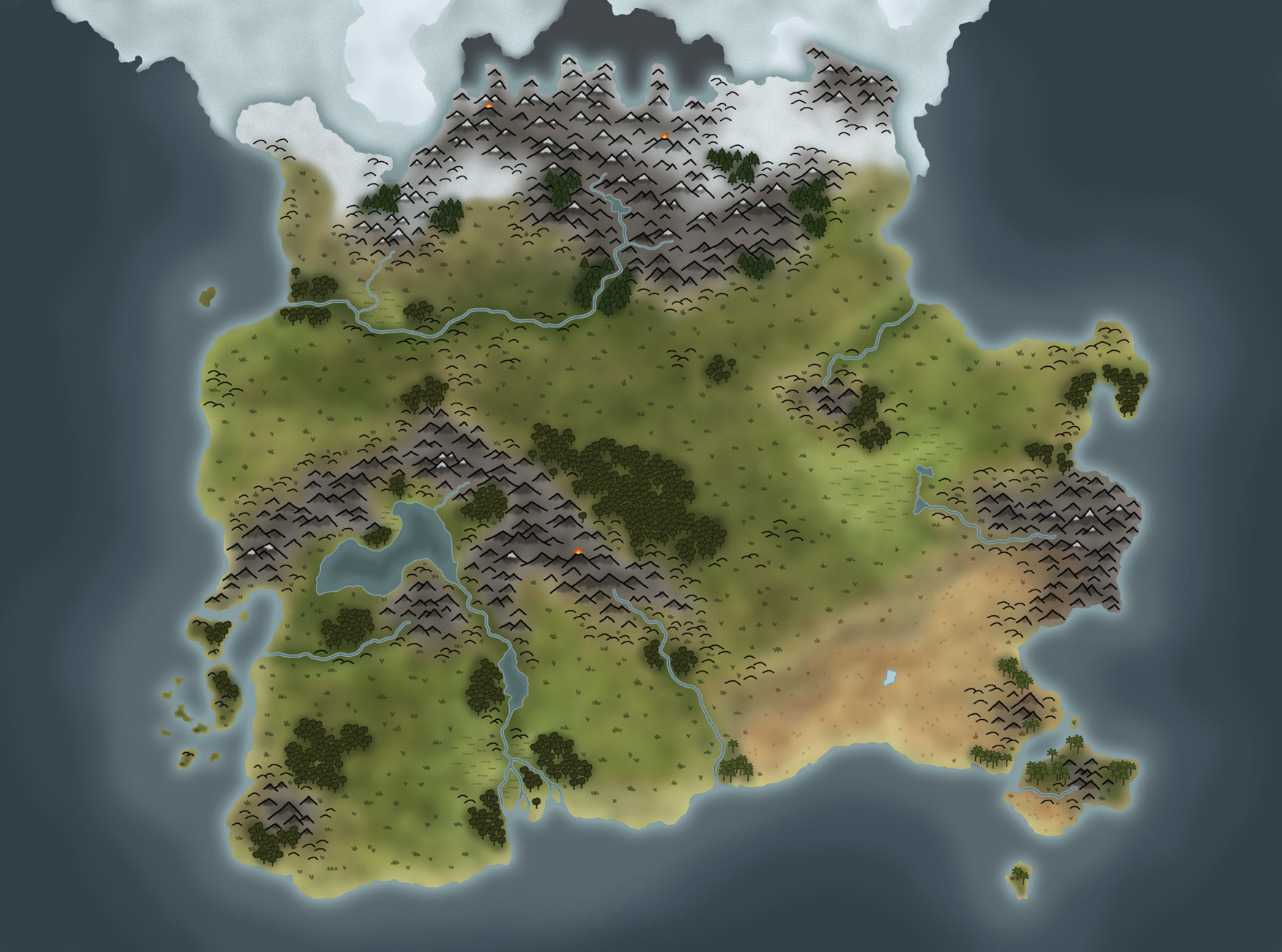 Artstation Pathfinder Custom World Map Wip Arne Haschen
