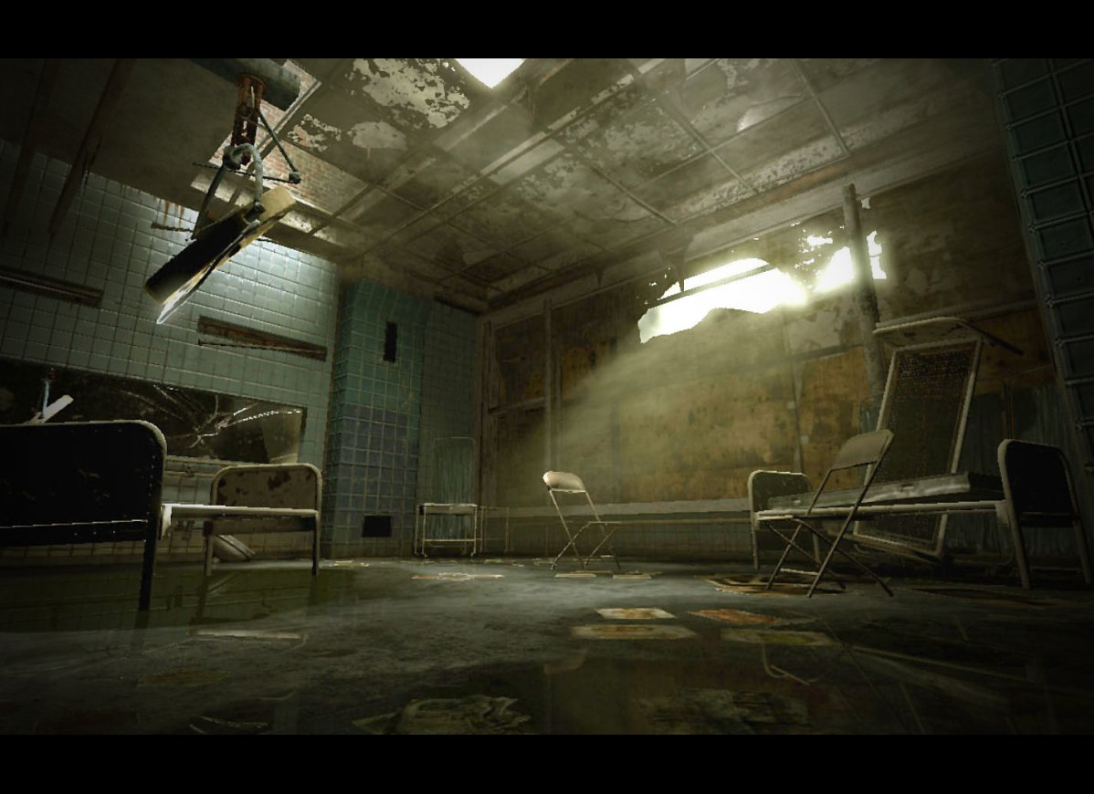 Abandoned Exam Room created in Unreal editor 3 by me.