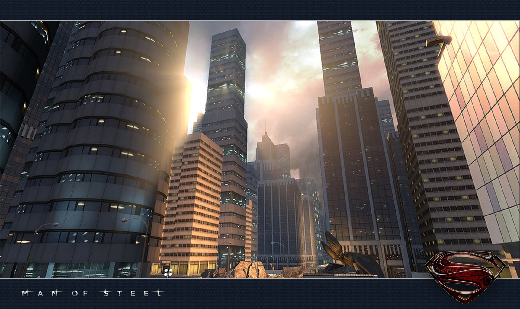 I created all the tall buildings here. Lead Env Artist set dressed the area.