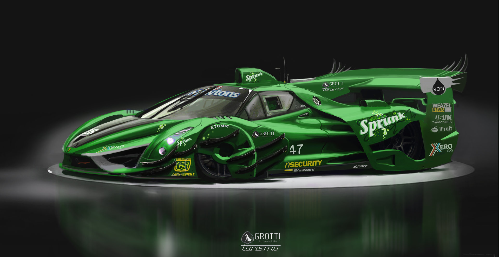 Alex brady racer tight green