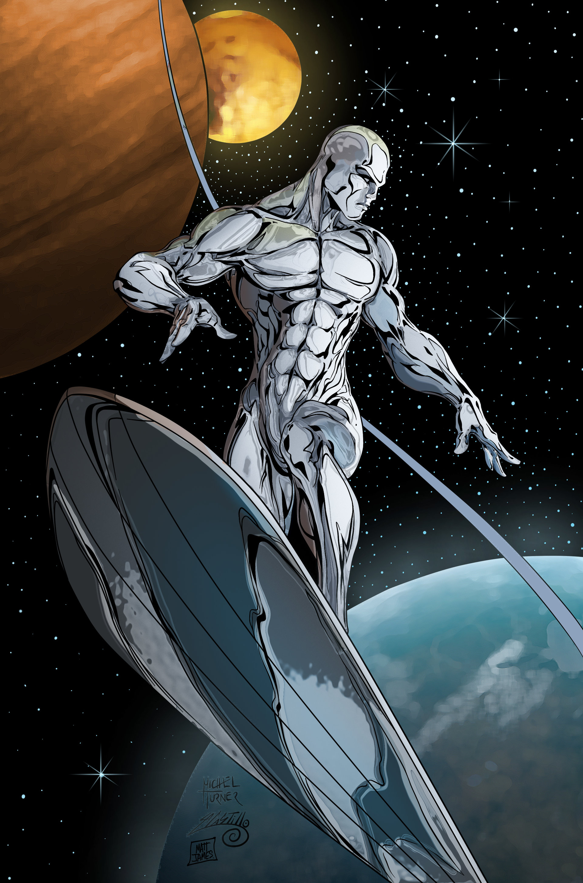 Matt james silver surfer ink by swave18 flat carloscampos by carloscamposart d8wvvun