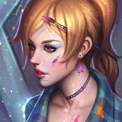Ayya saparniyazova artist girl by ayyasap d94am84