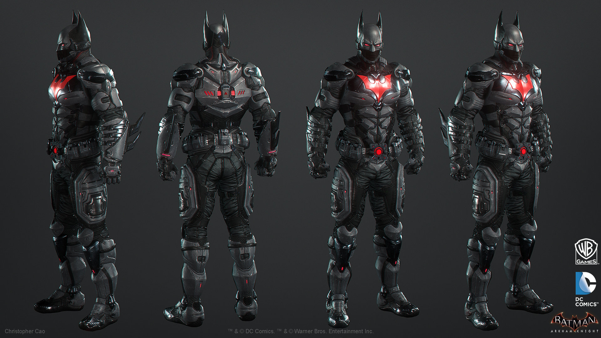 Artstation Batman Arkham Knight Skin Batman Beyond Game Model