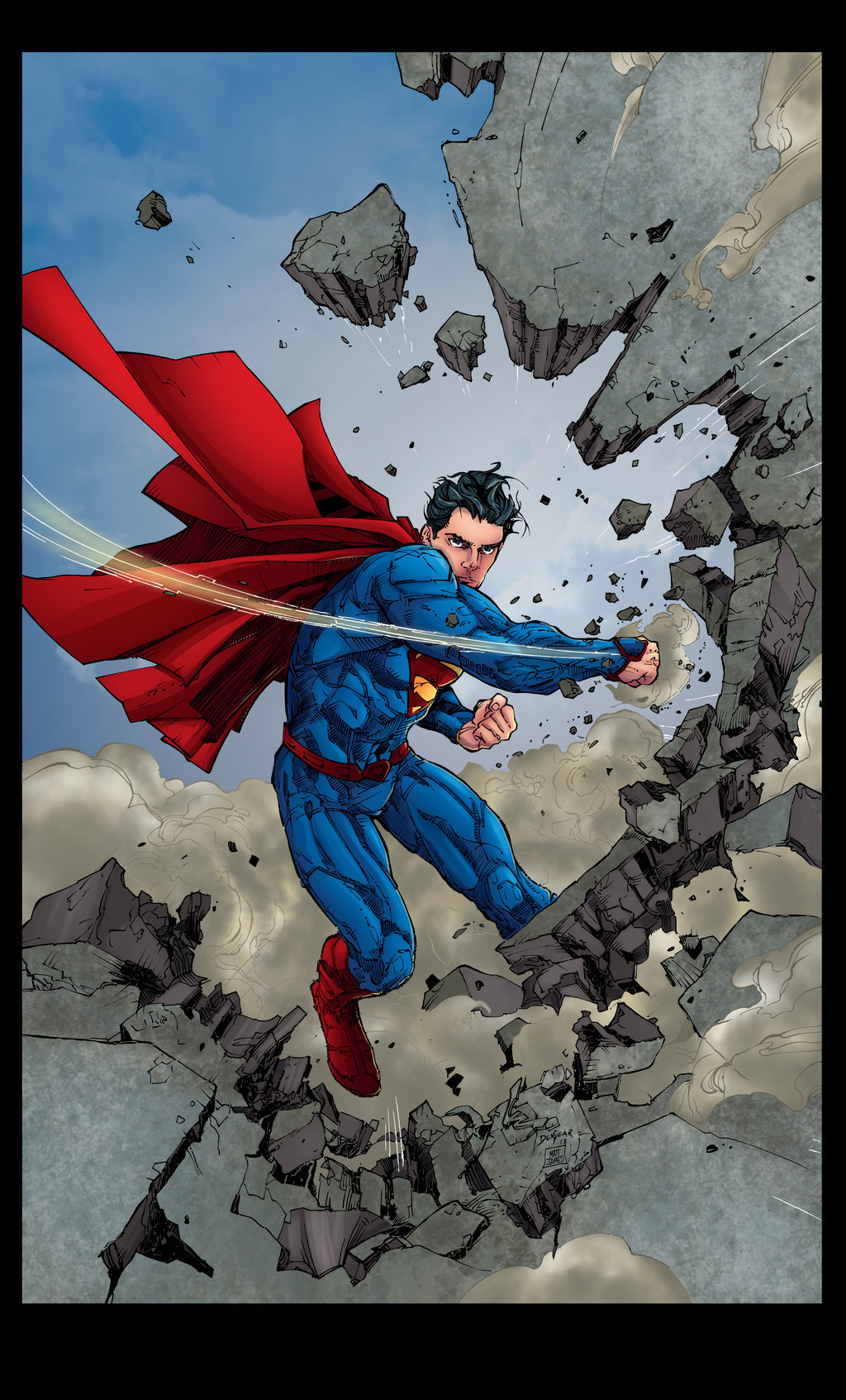 Matt james superman 13 cover by mattjamescomicarts d8rjwky