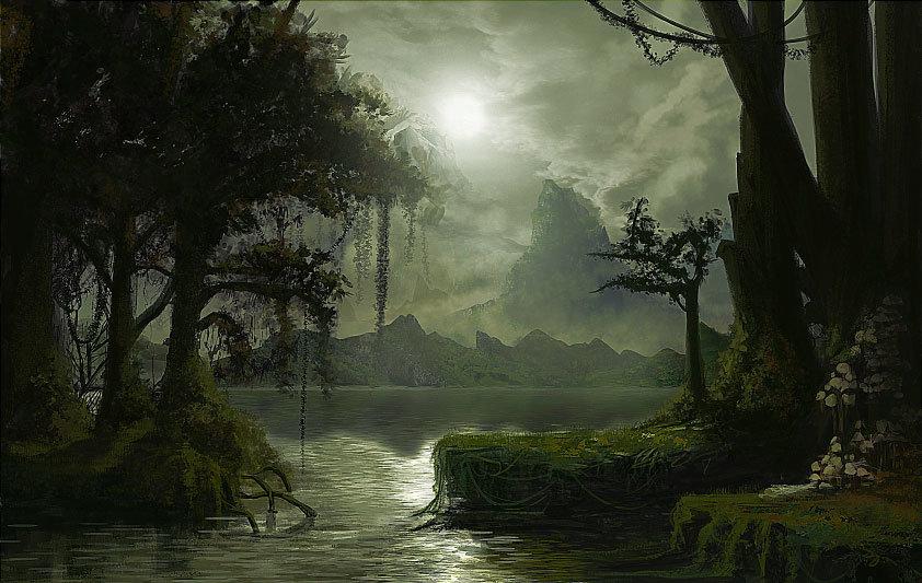 Deep swamp ilustration