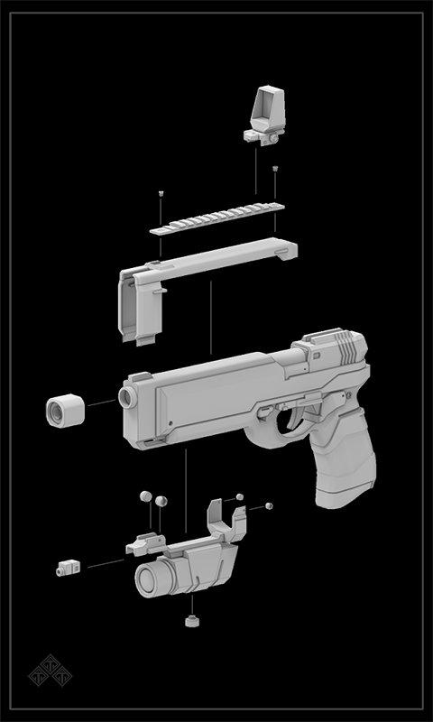 Il kim pistol parts set1 0810 b