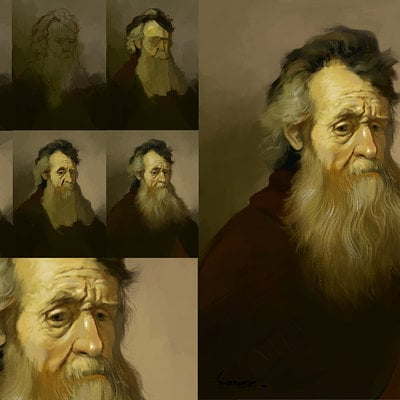 Swaroop roy portrait of an oldman rambrant