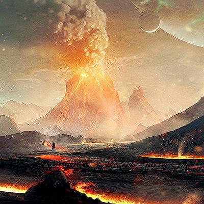 Davison carvalho volcanic land test 01 logo