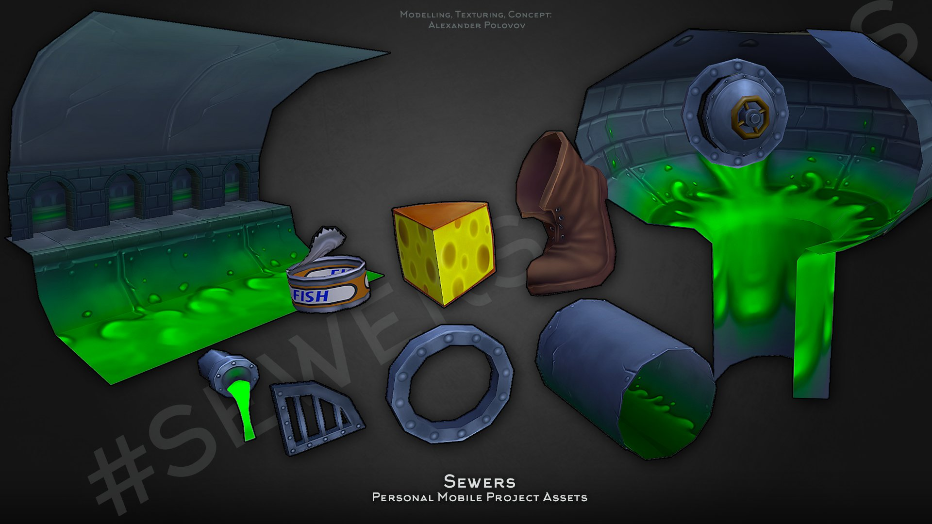 Hand Painted Sewers