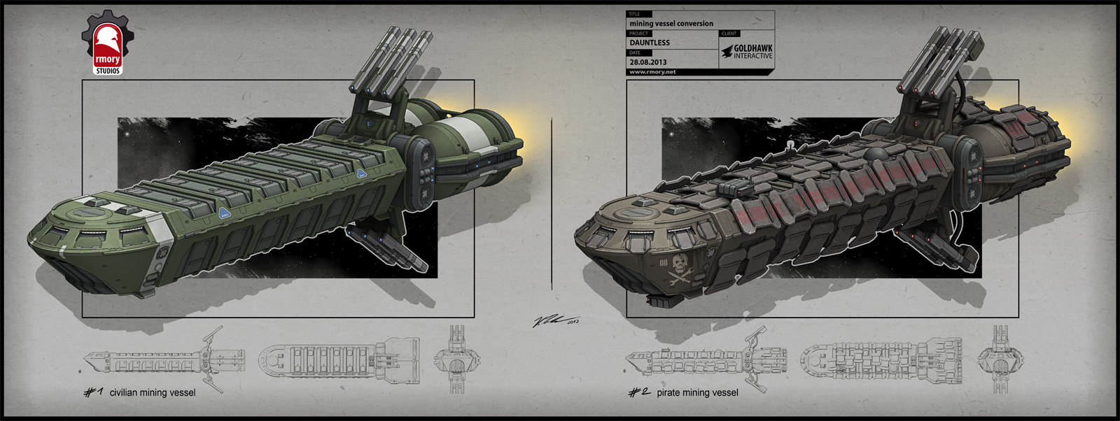 Mining Vessel Conversion for Dauntless by Goldhawk Interactive - rmory studios