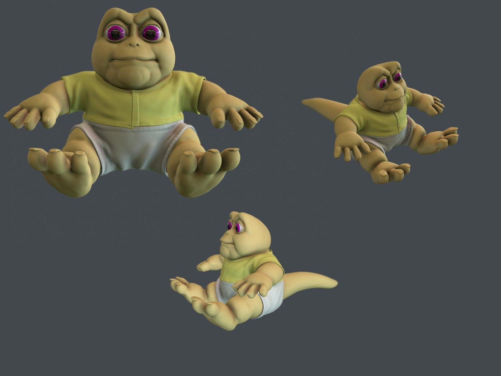 Disney Tv Show Dinosaur Sinclair Family Baby Figure 3 1 2 Tall Hollow Pvc