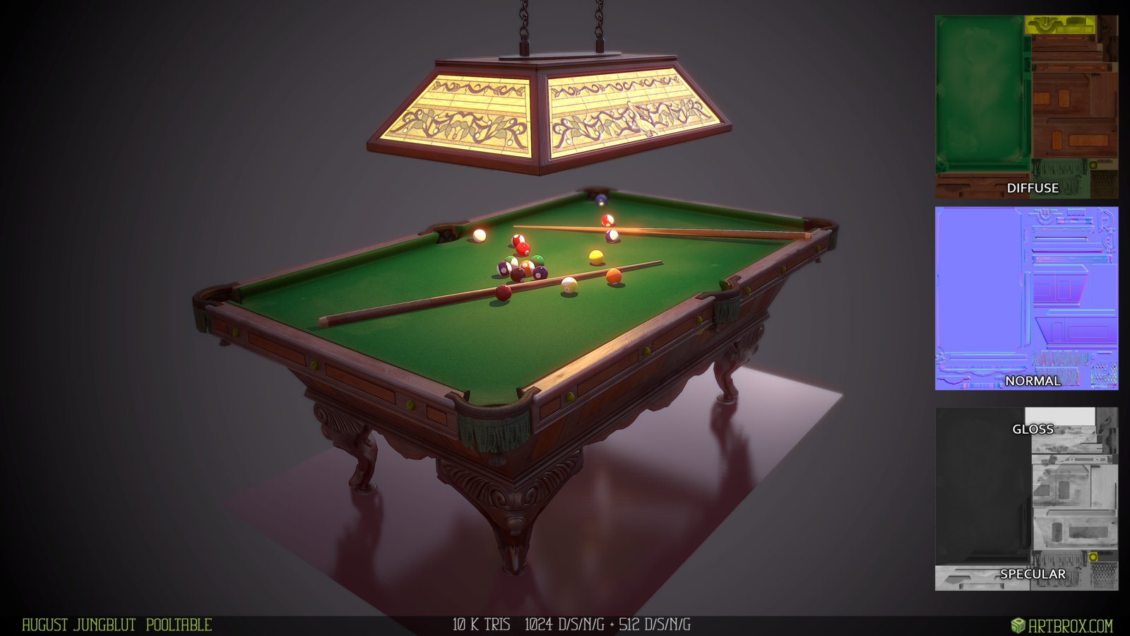 August Jungblut pool table